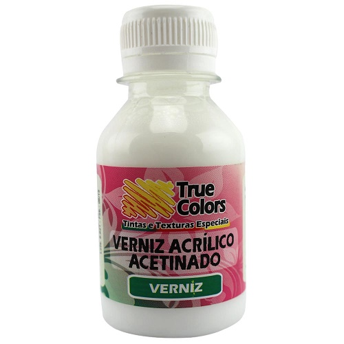 Verniz Acrilico Acetinado True Colors 100ml